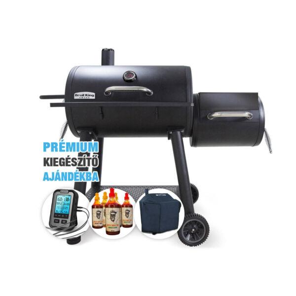 Broil King Smoke Offset füstölő csomag AKCIÓ+ajándék