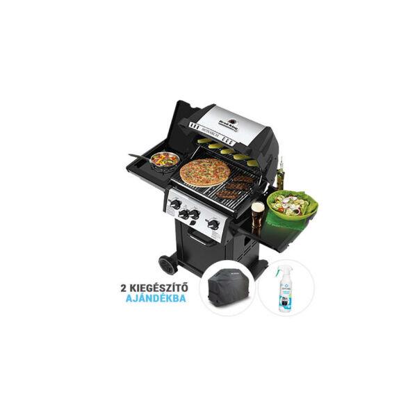 Broil King Monarch 340B grillsütő csomag akció+ajándék prémium takaró, rácskiemelő, grill tisztító