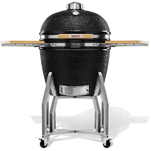 Kamado Chef 2200 Prestige Diamond Black kerámia grillező (rozsdamentes acél)
