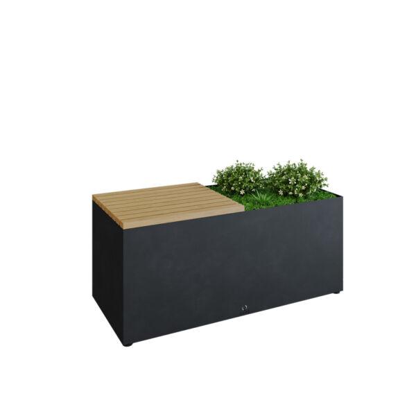 OFYR Herb Garden Bench Black (kerti pad, fűszernövény termelésére)