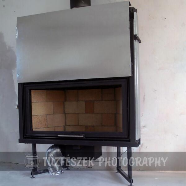 Tűzfészek SA-100E sík üveges acéllemez kandallóbetét